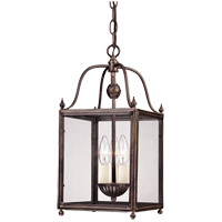 Crabapple 3 Light 8 inch Old Bronze Foyer Ceiling Light in Clear