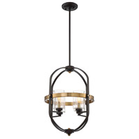 Savoy House 3-8040-4-79 Kirkland 4 Light 17 inch English Bronze and Warm Brass Foyer Pendant Ceiling Light alternative photo thumbnail