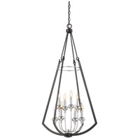 Dinant 8 Light 23 inch Matte Black with Polished Chrome Accents Chandelier Ceiling Light