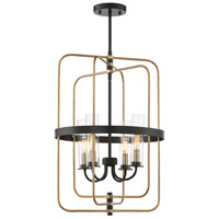 Savoy House 3-8072-4-51 Kearney 4 Light 23 inch Vintage Black with Warm Brass Foyer Light Ceiling Light