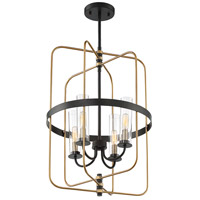 Savoy House 3-8072-4-51 Kearney 4 Light 23 inch Vintage Black with Warm Brass Foyer Light Ceiling Light alternative photo thumbnail