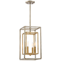 Savoy House 3-821-4-212 Berlin 4 Light 9 inch Argentum and Gold Foyer Light Ceiling Light in Argentum & Gold