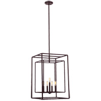 Berlin 5 Light 17 inch English Bronze Foyer Ceiling Light