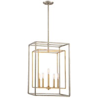 Berlin 5 Light 16 inch Argentum and Gold Foyer Ceiling Light in Argentum & Gold