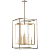 Berlin 9 Light 21 inch Argentum and Gold Foyer Ceiling Light in Argentum & Gold