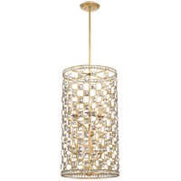 Clarion 6 Light 17 inch Gold Bullion Pendant Ceiling Light