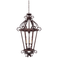 Savoy House Kensley 3 Light Foyer Pendant in Distressed Bronze 3-8617-3-59 photo thumbnail