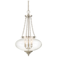 Savoy House 3-9042-3-SN Lowry 3 Light 16 inch Satin Nickel Pendant Ceiling Light