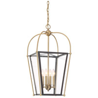 Dunbar 4 Light 14 inch English Bronze and Warm Brass Foyer Pendant Ceiling Light