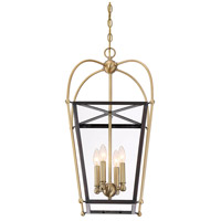 Savoy House 3-9074-4-79 Dunbar 4 Light 14 inch English Bronze and Warm Brass Foyer Pendant Ceiling Light alternative photo thumbnail