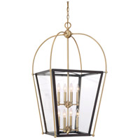 Dunbar 8 Light 20 inch English Bronze and Warm Brass Foyer Pendant Ceiling Light