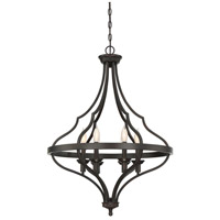 Sheilds 6 Light 25 inch English Bronze Foyer Ceiling Light
