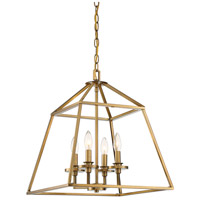 Savoy House 3-9099-4-322 Braxton 4 Light 24 inch Warm Brass Foyer Pendant Ceiling Light
