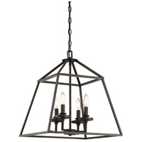 Savoy House 3-9099-4-44 Braxton 4 Light 24 inch Classic Bronze Foyer Pendant Ceiling Light