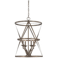 Savoy House Rail 4 Light Foyer in Antique Nickel 3-9122-4-285