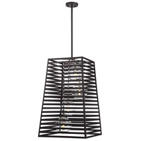 Lakewood 4 Light 18 inch Bronze with Stainless Steel Outdoor Foyer Lantern Ceiling Light