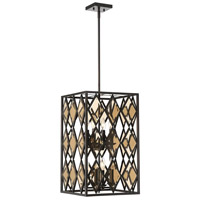 Putman 8 Light 14 inch English Bronze Foyer Lantern Ceiling Light