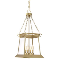 Norwich 4 Light 13 inch Warm Brass Lustre Foyer Ceiling Light