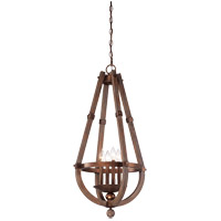 Savoy House Berwick 4 Light Foyer in Dark Wood and Guilded Bronze 3-9603-4-327