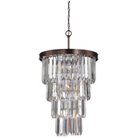Savoy House Tierney 7 Light Foyer Chandelier in Burnished Bronze 3-9801-7-28