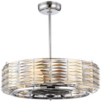 Taurus 28 inch Polished Chrome Fandelier, Air-Ionizing
