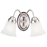 Savoy House Brighton 2 Light Vanity Light in Satin Nickel 3282-SN