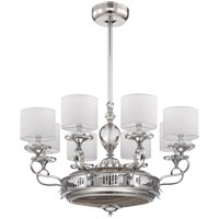Levantara 34 inch Polished Chrome Fandelier, Air-Ionizing