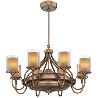 Savoy House Etesian 8 Light Fandelier in Burnished russett 36-329-FD-21