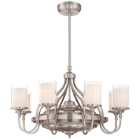 Savoy House Etesian 8 Light Fandelier in Satin Nickel 36-329-FD-SN