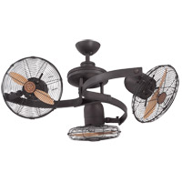 Circulaire III 38 inch English Bronze with Beechwood Blades Outdoor Ceiling Fan, 3 Headed