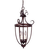 Foyer 3 Light 14 inch English Bronze Entry Lantern Ceiling Light