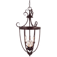 Signature 3 Light 18 inch English Bronze Foyer Lantern Ceiling Light