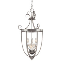 Signature 3 Light 18 inch Pewter Foyer Lantern Ceiling Light