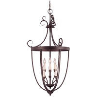 Signature 3 Light 20 inch English Bronze Foyer Lantern Ceiling Light