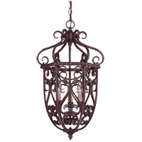 Bellingham 3 Light 14 inch Bark and Gold Foyer Ceiling Light, Cage