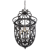 Savoy House 3P-8295-6-52 Bellingham 6 Light 22 inch Bark and Gold Foyer Cage Ceiling Light, Cage alternative photo thumbnail
