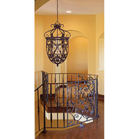 Savoy House 3P-8295-6-52 Bellingham 6 Light 22 inch Bark and Gold Foyer Ceiling Light, Cage alternative photo thumbnail