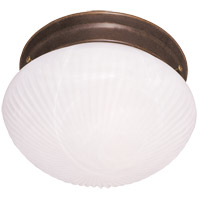 Signature 1 Light 7 inch Brownstone Flush Mount Ceiling Light