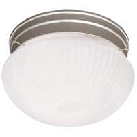 Signature 1 Light 7 inch Satin Nickel Flush Mount Ceiling Light
