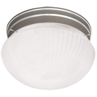 Savoy House 403-SN Signature 2 Light 9 inch Satin Nickel Flush Mount Ceiling Light in Ribbed Marble photo thumbnail