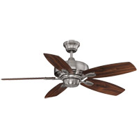Wind Star 42 inch Brushed Pewter with Walnut/Chestnut Blades Ceiling Fan