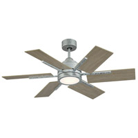 Savoy House 44-770-6WO-168 Farmhouse II 44 inch Galvanized with Weathered Oak Blades Ceiling Fan in Galvanized Metal