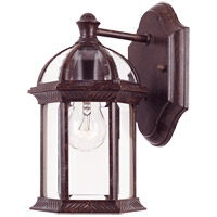 Kensington 1 Light 11 inch Rustic Bronze Outdoor Wall Lantern