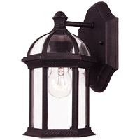 Kensington 1 Light 11 inch Black Outdoor Wall Lantern in Textured Black