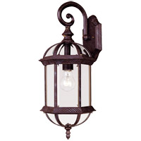 Kensington 1 Light 20 inch Rustic Bronze Outdoor Wall Lantern