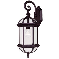 Kensington 1 Light 20 inch Black Outdoor Wall Lantern in Textured Black