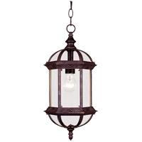 Kensington 1 Light 8 inch Rustic Bronze Outdoor Hanging Lantern