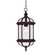 Kensington 1 Light 8 inch Black Outdoor Hanging Lantern in Textured Black