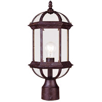 Kensington 1 Light 18 inch Rustic Bronze Outdoor Post Lantern