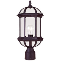 Kensington 1 Light 18 inch Black Outdoor Post Lantern in Textured Black